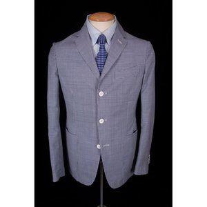 BOGLIOLI New 38 R Blue White Maxton Sport Coat